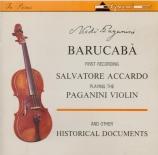 Barucabà (Violon de Paganini + autres enr. historiques)