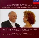 STRAUSS - Te Kanawa - Vier letzte Lieder (Quatre derniers lieder), pour