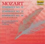 MOZART - Mackerras - Symphonie n°32 en sol majeur K.318