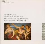 GESUALDO - Rooley - Madrigaux à 5 voix