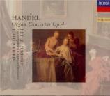 HAENDEL - Rifkin - Six concertos pour orgue op.4 HWV.289-294