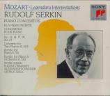MOZART - Serkin - Concerto pour deux pianos et orchestre n°10 en mi bémo