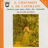 CHAUSSON - Quatuor Elyséen - Quatuor avec piano op.30