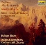 BRAHMS - Shaw - Rhapsodie (Goethe), mélodie pour alto et chœur masculin