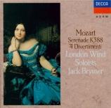 MOZART - Brymer - Sérénade n°12, pour instruments à vent en do mineur K