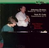 BRAHMS - Thomsen - Sonate pour clarinette et piano n°1 en fa mineur op.1