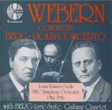 "BERG - Krasner - Concerto pour violon 'Dem Andenken eines Engels"" (A la"