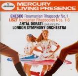 LISZT - Dorati - Six rhapsodies hongroises, pour orchestre S.359