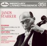SCHUMANN - Starker - Concerto pour violoncelle et orchestre en la mineur