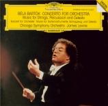 BARTOK - Levine - Musique pour cordes, percussions et celesta Sz.106 BB