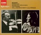 MOZART - Boskovsky - Sonates pour violon et piano (Intégrale)