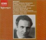 MOZART - Walter - Concerto pour piano et orchestre n°20 en ré mineur K.4