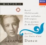 RAVEL - Danco - Schéhérazade, trois poèmes pour soprano ou ténor avec or