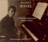 RAVEL - Merlet - Oeuvres pour piano (intégrale)