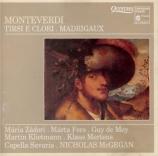 MONTEVERDI - McGegan - Tirsi e Clori, pour deux voix solistes, choeur à