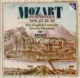 MOZART - Pinnock - Symphonie n°26 en mi bémol majeur K.184 (K6.161a)