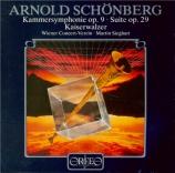 SCHOENBERG - Sieghart - Suite op.29