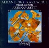 BERG - Artis Quartet - Quatuor à cordes op.3