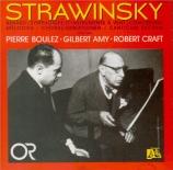 STRAVINSKY - Boulez - Renard, histoire burlesque pour deux ténors et deu