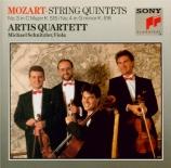 MOZART - Artis Quartet - Quintette à cordes n°3 en do majeur K.515