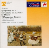 BRAHMS - Szell - Symphonie n°1 pour orchestre en do mineur op.68