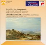 MENDELSSOHN-BARTHOLDY - Szell - Symphonie n°3 en la mineur op.56 'Schott