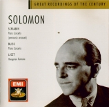 BLISS - Solomon - Concerto pour piano et orchestre en si bémol majeur F