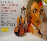 MOZART - Hagen Quartett - Quatuor à cordes n°1 en sol majeur K.80 (K6.73