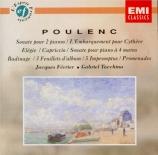 POULENC - Février - Sonate pour piano à quatre mains FP.008
