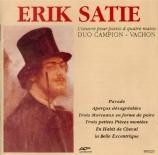 SATIE - Duo Campion-Vac - Parade : version pour piano (quatre mains)