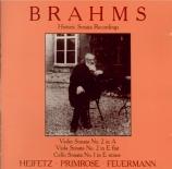 BRAHMS - Heifetz - Sonate pour violon et piano n°2 en la majeur op.100