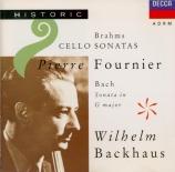BRAHMS - Fournier - Sonate pour violoncelle et piano n°1 en mi mineur op