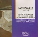 MONDONVILLE - Rousset - Six sonates en symphonie, op.3