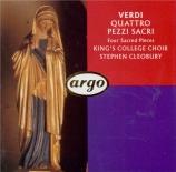VERDI - Cleobury - Quattro pezzi sacri (Quatre pièces sacrées)