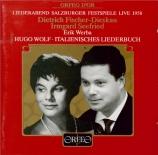 WOLF - Fischer-Dieskau - Italienisches Liederbuch, cycle de mélodies pou Salzbourg, 1958