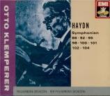 HAYDN - Klemperer - Symphonie n°88 en do majeur Hob.I:88