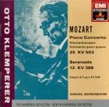 MOZART - Barenboim - Concerto pour piano et orchestre n°25 en do majeur