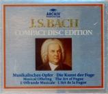 BACH - Goebel - L'offrande musicale(Musikalisches Opfer), pour flûte, c