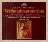 BACH - Richter - Oratorio de Noël(Weihnachts-Oratorium), pour solistes