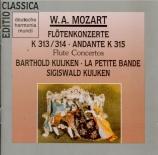 MOZART - Kuijken - Concerto pour flûte et orchestre n°1 en sol majeur K