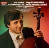 BARBER - Wallfisch - Concerto pour violoncelle op.22