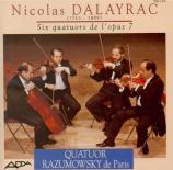 DALAYRAC - Quatuor Razumow - Six quatuors à cordes op.7