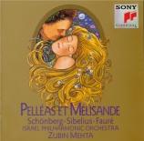 SCHOENBERG - Mehta - Pelleas und Melisande, poème symphonique pour orche
