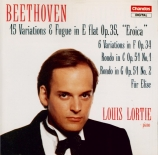 BEETHOVEN - Lortie - Variations (15) pour piano op.35 'Variations