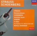 STRAUSS - Marriner - Metamorphosen, étude pour vingt-trois cordes solo A