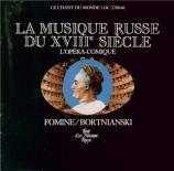 FOMINE - Tchernushenko - The coachmen at the horse stage-post (Les coche La Musique russe au XVIIIème siècle Vol.2