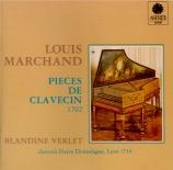 MARCHAND - Verlet - Pièces de clavecin