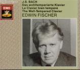 BACH - Fischer - Le clavier bien tempéré, Livres 1 et 2 BWV 846-893
