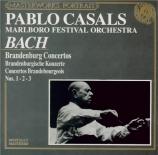 BACH - Casals - Concerto brandebourgeois n°1 pour orchestre en fa majeur