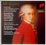 MOZART - Rampal - Concerto pour flûte, harpe et orchestre en do majeur K